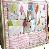 Kinderzimmer Hängender Bett Organizer, Windeln Babybetttasche Spielzeugtasche (Baum)