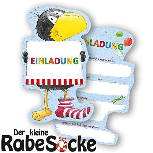 Preisvergleich Produktbild 6 Einladungskarten * DER KLEINE RABE SOCKE * für Kinderparty und Kindergeburtstag von DH-Konzept // Einladungen Invites Party Set
