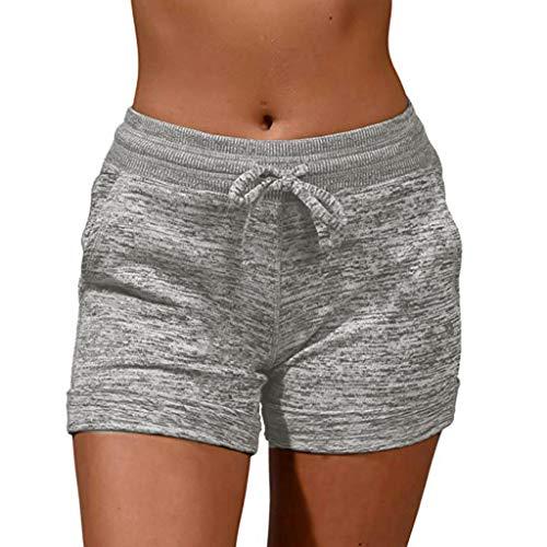 LILICAT-Hosen Damen Casual Shorts Sport Yoga Kurze Hose Sweatpants Laufshorts Baumwolle Frauen Kurze Jogging Hose Running Gym Workout Shorts Slim Fit Sportshorts Jeanshosen -