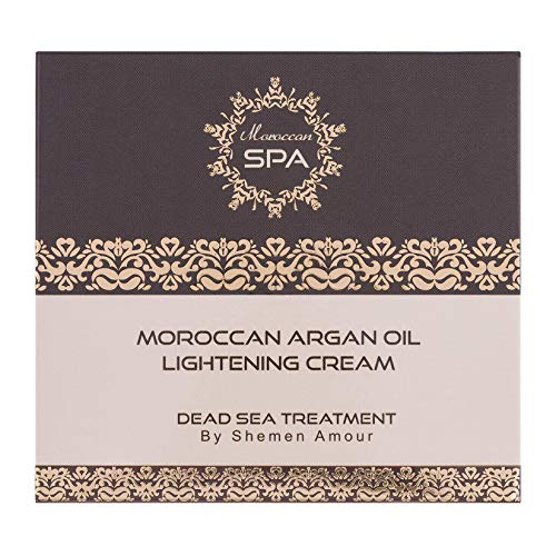 Lightening Face Day Cream for All Skins 50ml - Organic Moisturiser for Women with Dead Sea Minerals and Moroccan Argan Oil from Moroccan SPA