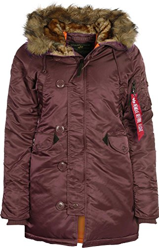 Alpha Industries Damen Parka bordeaux