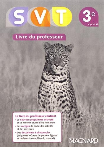 SVT 3e : Livre du professeur