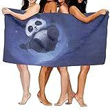 NFHRRE Cute Panda Bear Platinum Style (3) Luxury Bath Towel Hotel & Spa Extra-Absorbent Towel 31.5 X 51.2 for Beach & Ba