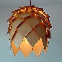 WYMBS Luce del pendente decorazione mobili Arte del lampadario di cono del pino legno massello , 40cm