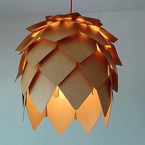 Caribou ceiling fixture/pendant Light ceiling Lamp Ceiling Light pendant Art of solid wood Pine Cone chandelier ,30cm
