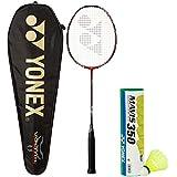 [Sponsored]Yonex Voltric 7 & Mavis 350 Combo (Voltric 7 Red/Black Badminton Racquet + Mavis 350 Pack Of 6 Shuttlecock)