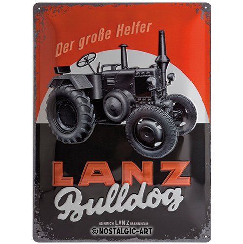 Nostalgic-Art 23236 Lanz - Bulldog, Blechschild 30x40 cm