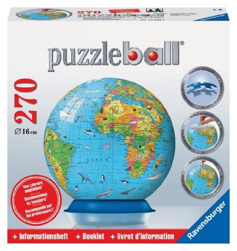 Ravensburger 12362-Kinderglobus, englisch-Puzzleball 270 Teile