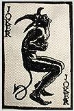 J & C Famille Détenue DC Comics (Batman) carte Joker 9cm Logo Dark Knight brodée coudre/thermocollant Patch/Appliquees