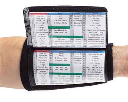 WristCoaches Qb Wrist Coach - Textbuch Armband Heavy Duty Fußball Armbänder für Jungen mit DREI Playsheet Compartments - Perfekt für Flag Football und Fußball Tackle Jugend Königsblau