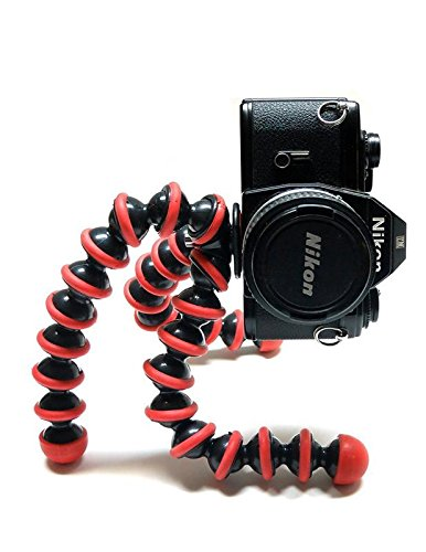 TRYOKART 10 Inch Flexible Gorillapod Tripod With Mobile Attachment For Dslr, Action Cameras, Digital Cameras & Smartphones Tripod(Red) 1