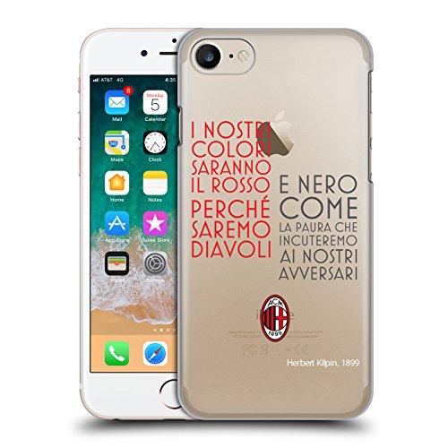 Head Case Designs Ufficiale AC Milan Testo 2018/19 Adulti Cover Retro Rigida per iPhone 7 / iPhone 8