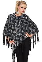 953 Fashion4Young Damen Poncho Pullover Tunika Pulli verfügbar in 2 Farben Gr. 34/36/38