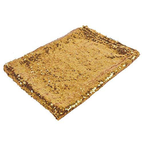 Fditt 1 Stück Pailletten Tischläufer Glitter für Hochzeitsbankett Party Decor MEHRWEG VERPACKUNG socialme-eu(Goldene) - Kopf-tisch-mittelstücke