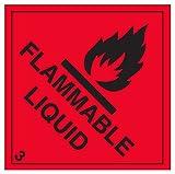 """vsafety 6d001at-s""""liquide inflammable Avertissement danger diamants signe, autocollant en vinyle, Carré, 200mm x 200mm, noir/rouge"""