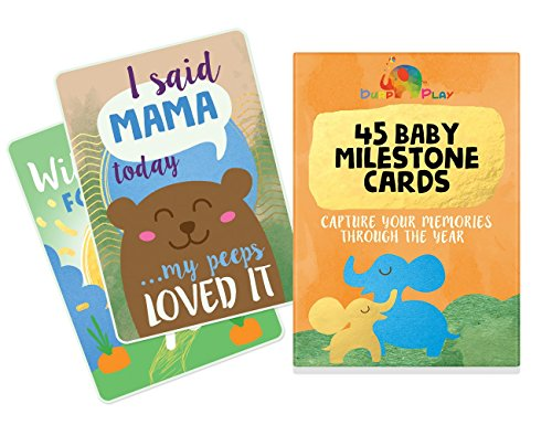 baby-milestone-cards-45-illustrated-cards-to-capture-your-babys-1st-year-highlights-perfect-for-baby