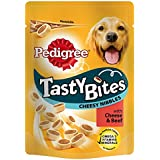 Pedigree Tasty Bites Cheesy Nibbles with Beef, 140 g(pack of 8)