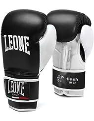 Leone 1947 Guantes de boxeo, modelo Flash negro negro Talla:16 Oz