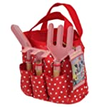Childrens Gardening Set In Red Bag