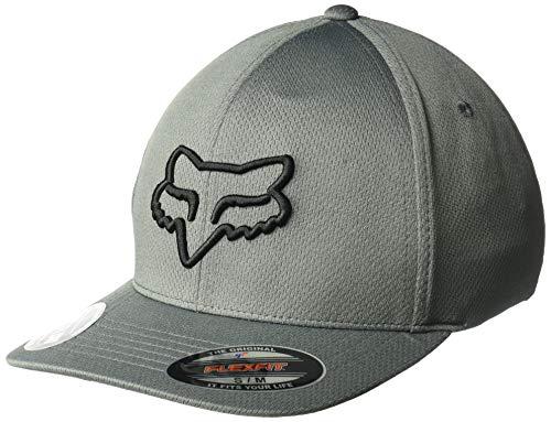 Fox Herren Lithotype Flexfit HAT Baseball Cap, dunkelgrau, Small/Medium -