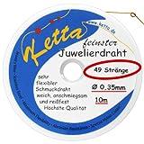 Schmuckdraht - 0,35 mm - 49 Stränge - gold - ORIGINAL Ketta Juwelierdraht + Bastelanleitung