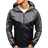 Herrenjacke,Shopaholic0709 Herren Casual Zip Jacke Herren Casual Jacke Kapuzenpullover Jacket Top Herren Die beiläufige Sportjacke Pocket Fit Hoodies Jacket Coat