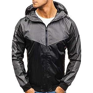 VRTUR Herren Herbst Winter Mantel Postleitzahl Beiläufig Lange Ärmel Schlank Tasche Passen Hoodies Jacke Outwear