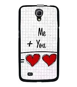 FUSON Me Plus You Heart Designer Back Case Cover for Samsung Galaxy Mega 6.3 I9200 :: Samsung Galaxy Mega 6.3 Sgh-I527