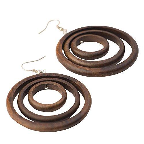 Holz-Ohrringe
