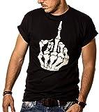 Gothic T - Shirt für Männer Skull Finger Größe