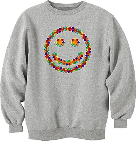 Smiling smileys funny logo Sweat-shirt unisexe Medium