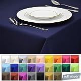 Rollmayer Tischdecke Tischtuch Tischläufer Tischwäsche Gastronomie Kollektion Vivid (Dunkel Blau 16, 140x220cm) Uni einfarbig pflegeleicht waschbar 40 Farben