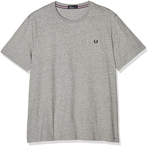 Fred Perry Herren Fp Crew Neck T-Shirt Grau (VINTAGE STEEL MA)