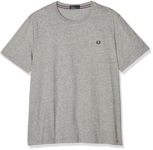 Fred Perry Herren FP Crew Neck T-Shirt, Grau (Vintage Steel MA), XL (Herstellergröße: XL) (Vintage-t-shirt Steel)