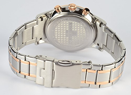 Jacques Lemans Herren Analog Quarz Uhr mit Edelstahl beschichtet Armband 1-1844L