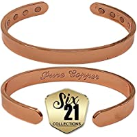 Polished Magnetic Copper Bracelet for Arthritis Relief - Pure Copper, 8 Magnets, Adjustable Bangle - For Men and... preisvergleich bei billige-tabletten.eu