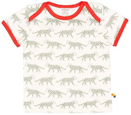 loud + proud Jungen T-Shirt mit Druck, aus Bio Baumwolle, GOTS zertiziziert, Grün (Olive Oli), 104 (Herstellergröße: 98/104) -