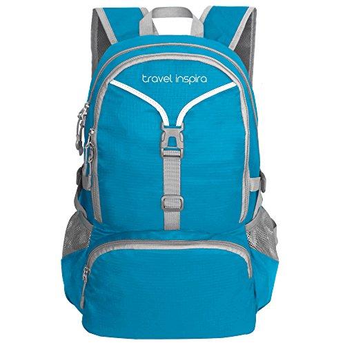 travel inspira 35L Leichter Faltbarer Wasserdichter Verpackter Sportlicher Rucksack für Camping, Wandern und - Gewichte 30 Pfund