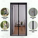YZCX Fliegengitter Magnetvorhang für Türen, 90 x 210cm (max. Türgröße 92x212cm) Insektenschutz Magnet Vorhang Fliegenvorhang für Balkontür Terrassentür Wohnzimmer