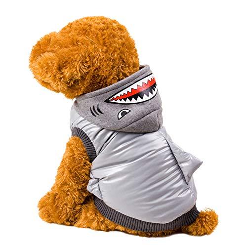 (LOVEPET Herbst- Und Winterhaustierkleidung Hai-Wollmantel Hundekatze Kleidung Teddybären-Haustier-Kleidung)