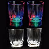 Ultra® 12 LED blinkt Shot Gläser Neuheit Kunststoff Leuchten katalogbasiert beleuchtet Funky Cocktail Gläser beleuchtet Multi farbige blinkende LEDs perfekt für Partys-Veranstaltungen - 5