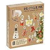 Re Cycle Me DEFG1220 Recycling Bastelspaß Weihnachten Special Edition, Bastelset für 8 Modelle, Kreativset für Kinder ab 4 Jahre, Set zum Basteln mit Haushaltsmaterialien, Recycle Mich, Bastelmix