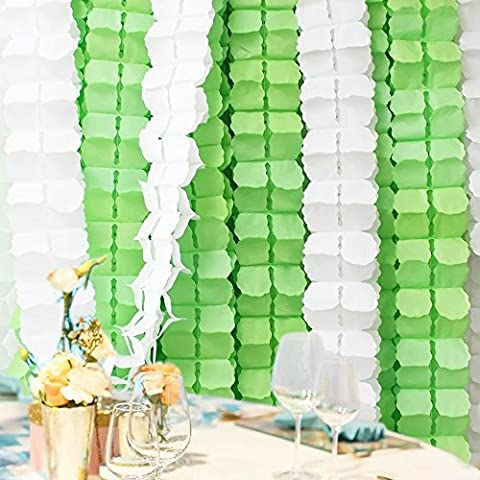 Aideal 6 Pack Four Clover Paper Flower Garlands, 3.6M Each Tissue Hanging Garland Party Streamers, Perfect Decorations for Wedding Birthday Party