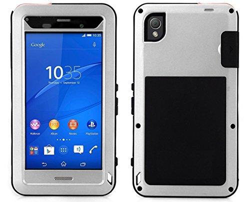 Love Mei für Sony Z5Aluminium Metall Case Wasser gegen schmutzfest mit Gorilla Glas Heavy Duty Schutzhülle Hard Shell Cover für Sony Xperia Z5