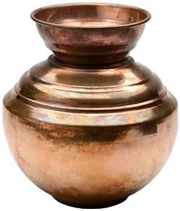 Copper Indian Lota Vase/Planter, indoor/outdoor - 20cm height x 12cm width