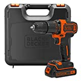 BLACK+DECKER 18 V Lithium-Ion 2-Gear Hammer Drill with Kit Box