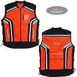 Motorrad Warnweste Sicherheitsweste Motorrad Quad Neon Weste von PROANTI® Größe XXL