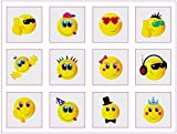 Smiley Temporary Tattoos Pack of 72