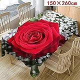 MOIKA Floral Imprimé Nappe pour Table rectangulaire carrée/Nappes Anti Taches en Lin Nappe Décorative (B,150 * 260)