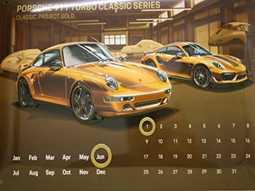 Blechkalender Porsche Turbo S Exclusive & 993 Gold Wandkalender & Standkalender
